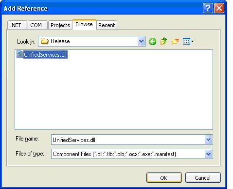 .NET step 3 - Add Reference